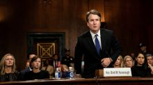 "Supreme Court nominee judge Brett Kavanaugh: ""Yes, we drank beer. I liked beer. Still like beer,"" Kavanaugh recited several times in different ways, drawing a contrast with all those shouty, prissy liberals and their non-beer tastes. Photograph: Erin Schaff/the New York Times"