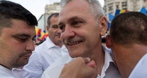 Liviu Dragnea, who controls the Romanian government from behind the scenes. Photograph: Liviu Florin Albein/Iquam Photos via Reuters