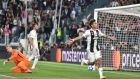 Paulo Dybala scored a hat-trick as Juventus beat Young Boys 3-0 in Turin. Photograph: Andrea Di Marco/EPA