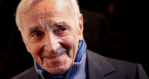 "French singer Charles Aznavour, who described himself as ""100 per cent French and 100 per cent Armenian"" Photograph: Christophe Ena/Pool/File Photo/Reuters"