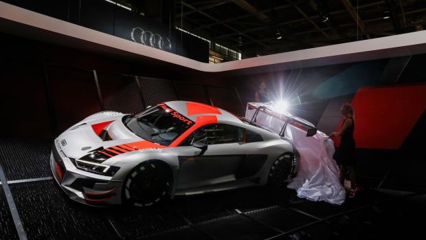 Audi is dropping heavy hints about the look of the next-generation R8 supercar with its R8 LMS racing car