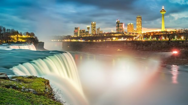Enjoy the awesome views of the American Falls, pictured, and the Horseshoe Falls in Canada as part of a 12-night Niagara Falls and New York package from Jetline Cruise.