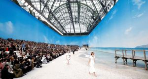 Paris Fashion Week:  Chanel brought the beach to the Grand Palais. Photograph: Christophe Petit Tesson/EPA