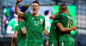 With his international future still up in the air Declan Rice is highly unlikely to be named in the Republic of Ireland squad on Thursday. Photograph: Laszlo Geczo/Inpho