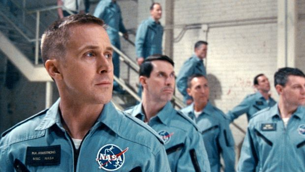 Moon landing: Ryan Gosling, Patrick Fugit and Shawn Eric Jones in First Man