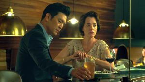John Cho and Parker Posey in Columbus. Photograph: Front Row Filmed Entertainment