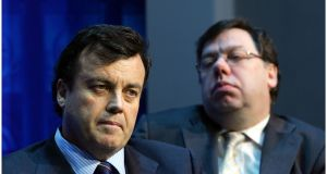 Brian Cowen and Brian Lenihan: on the night of the bank guarantee the  options were grim. Photograph: Bryan O'Brien