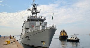 Last week it emerged that two Naval Service vessels were unable to put to sea because of crew shortages while reservists were being used to fill gaps in another vessel. Photograph: Gaetano Lo Porto/AP