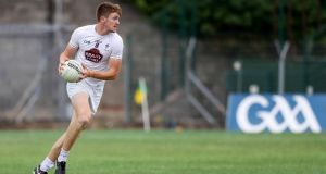Kildare midfielder Kevin Feely ran 11.79km during a championship  match last season. Photograph: Tommy Dickson/Inpho