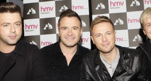File photograph of Westlife stars (left to right) Mark Feehily, Shane Filan, Nicky Byrne and Kian Egan. File photograph: Danny Lawson/PA Wire