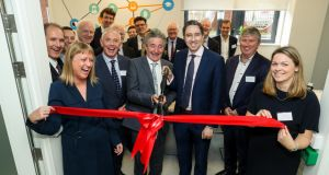 Minister of State for Training, Skills, Innovation, Research and Development John Halligan and Minister for Health Simon Harris at the opening of the Dublin hub