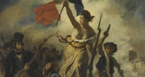 Delacroix: a detail from July 28, 1830: Liberty Leading the People. Courtesy of the Louvre, Paris