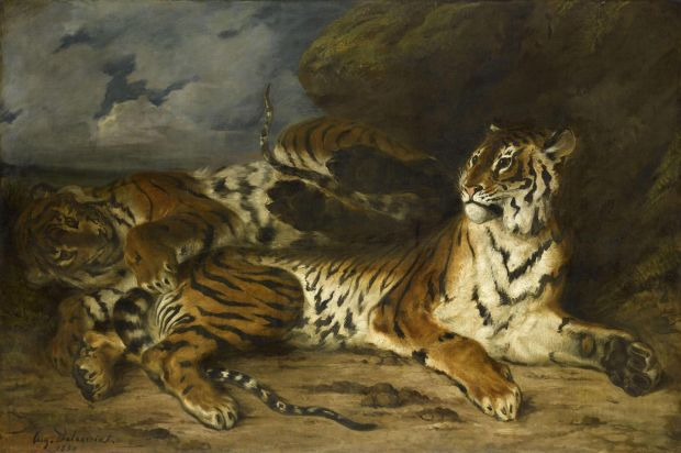 Delacroix: Young Tiger Playing with Its Mother; 1930. Courtesy of the Louvre, Paris