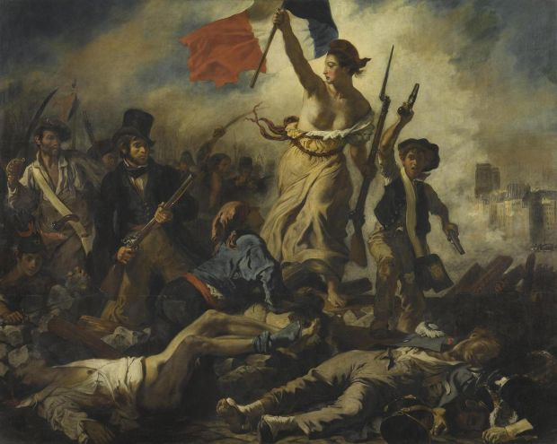 Delacroix: July 28, 1830: Liberty Leading the People; 1830. Courtesy of the Louvre, Paris