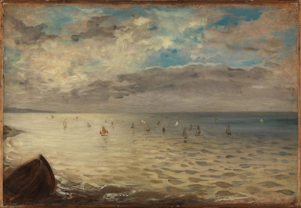 Delacroix: The Sea from the Heights of Dieppe; 1852. Courtesy of the Louvre, Paris