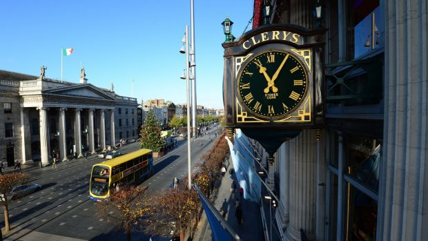 The Clerys clock on O'Connell Street. Photograph: Frank Miller