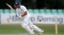 Prithvi Shaw scored a century on his Test debut against the West Indies in Rajkot. Photograph:  Harry Trump/Getty Images