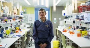 Prof Ian Frazer, a co-creator of the HPV vaccine Gardasil, in a lab at Translational Research in Brisbane, Australia. Photograph: David Maurice Smith/The New York Times