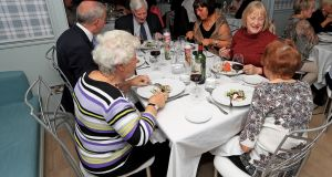 Residents and family members enjoy dinner at Chapter Two in the Fern Dean nursing home in Blackrock, Co Dublin. Photograph: Donall Farmer/The Irish Times