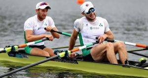 Cork brothers Gary and Paul O'Donovan  won gold in the lightweight double sculls at the World Rowing Championships in Plovdiv, Bulgaria. Photograph:  Dan Istitene/Getty Images