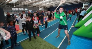 Limerick's Sean Finn at the Family SportFest at the  Sport Ireland National Sports Campus last weekend.  Over 3,000 people met sporting heroes and experienced over 30 sports. Photograph: Tommy Dickson/Inpho
