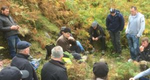 Kerry farmers meet Galway counterparts to work on trail repair and erosion management issues as part of the new national uplands initiative supported by the Heritage Council Photograph: Siobhan Bennett