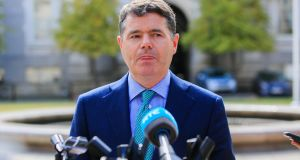 Minister for Finance Paschal Donohoe: the Minister and Fianna Fáil have set aside €500 million for the rainy day fund, but Labour wants this to go towards a national housing development bank. Photograph: Gareth Chaney Collins