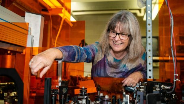 Nobel physics laureate: Donna Strickland's work led to laser eye surgery. Photograph: Warren Toda/EPA