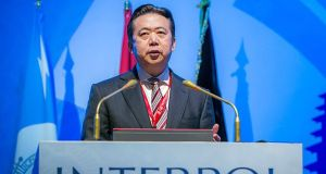 A handout image made available by Interpol showing Meng Hongwei, Chinese President of Interpol. Photograph: EPA