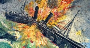 RMS Leinster: from Brian Palm's painting for An Post's stamp to mark the centenary of the disaster