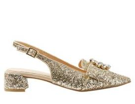 Block heel jewelled slingback courts €49