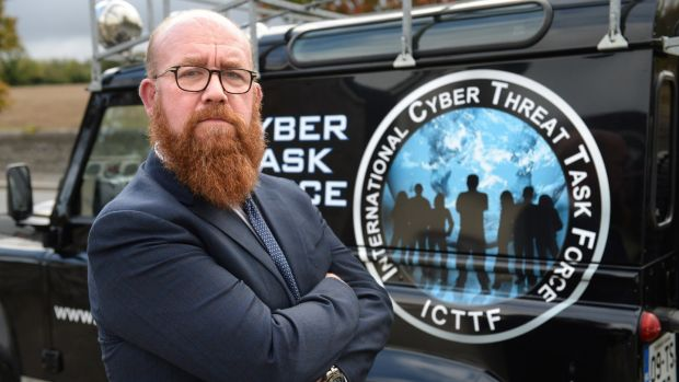"Paul Dwyer, chief executive of Cyber Risk International, in Kinsealy, Co Dublin. The dark web is ""All the darkest sides of humanity exposed"". Photograph: Dara Mac Dónaill"
