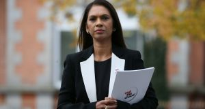 Campaigner Gina Miller arrives at the Sean Hollywood Arts Centre in Newry. Photograph: Brian Lawless/PA