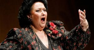 Spanish soprano Montserrat Caballe performs during a concert in Santander, Spain, on December 9th, 2006. Photograph: Reuters/Victor Fraile/File Photo