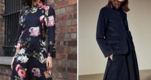 Carraig Donn's floral dress  and Cos's corduroy rig out are eye catching.