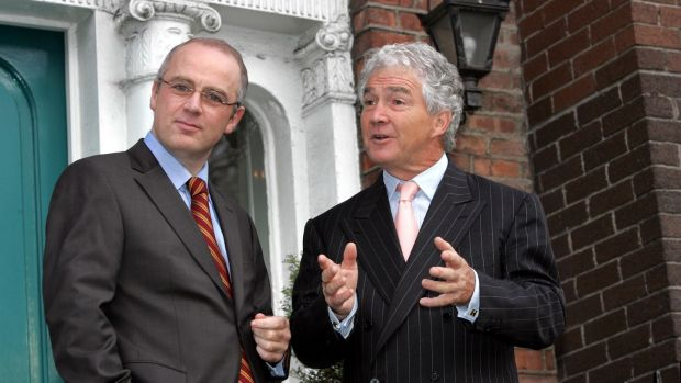 "Former Anglo Irish CEO David Drumm and former chairman Seán Fitzpatrick: Fitzpatrick told Marian Finucane that he ""can't say sorry with any degree of sincerity"". Photograph: Brenda Fitzsimons"