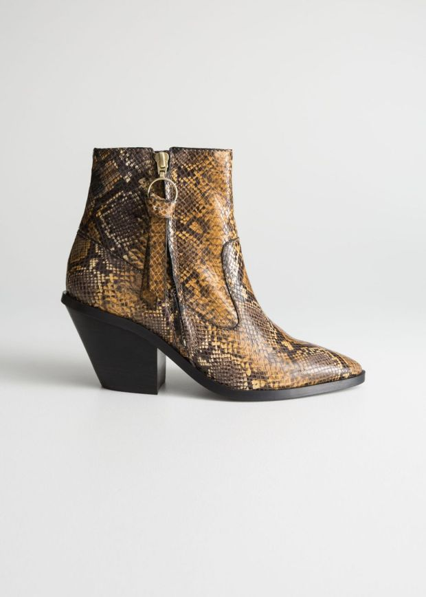 Snakeskin cowboy boots €149 Other Stories