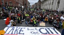 Students arrived at the Raise The Roof rally in their thousands. The mobilisation of a new generation of students in recent years as a strong activist force is hugely significant. Photograph: Clodagh Kilcoyne/Reuters