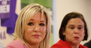 Sinn Féin deputy leader Michelle O'Neill sidestepped the issue of IRA violence when launching the party's 30-page submission to the British government's consultation on how to address the legacy of the Troubles. Photograph: Niall Carson/PA Wire