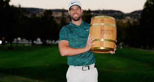 Kevin Tway after winning the Safeway Open in Napa, California. Photograph: Robert Laberge/Getty Images