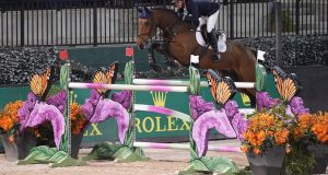 Meath's Jonathan Corrigan posted the fastest time to win at the Grand Prix at the two-star show in Tryon on Saturday. Photograph: Sportfot