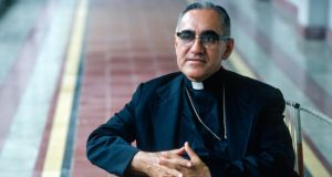 Archbishop Óscar Romero: In his weekly sermons, broadcast all over he country by Catholic radio stations, he took to reading lists of the latest atrocities by security forces and the death squads in El Salvador. Photograph: Leif Skoogfors/Getty Images