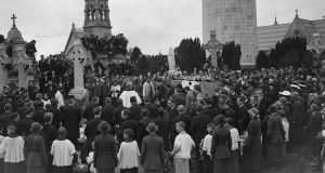 July 1922: The funeral of  Cathal Brugha at Glasnevin cemetery in Dublin. Photograph: Topical Press Agency/Getty Images