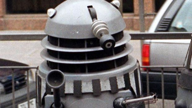 A Dalek which still can't climb the stairs. Photograph: Martin Keene