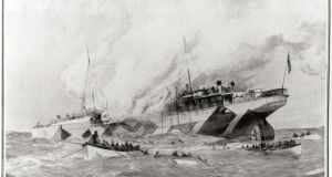 A contemporary depiction of the sinking of the RMS 'Leinster' in 1918