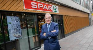 Leo Crawford, group chief executive of BWG Group, outside the relaunched SPAR Millennium Walkway store in Dublin city centre.