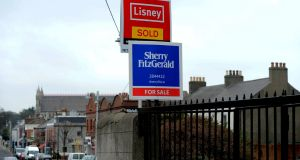 For sale signs on Sandycove Road in Co Dublin. Photograph: Cyril Byrne