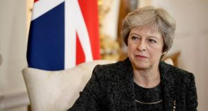 British prime minister Theresa May's official spokesman said on Monday there could be no legally binding withdrawal agreement without a precise political declaration about the future relationship between Britain and the EU. File photograph: Matt Dunham/PA Wire