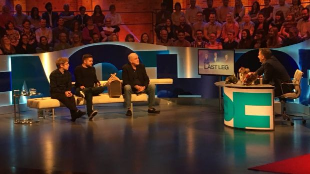 John Cleese (centre) on The Last Leg