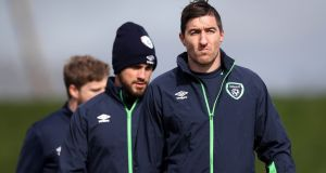 Stephen Ward will not be involved against Denmark or Wales. Photograph: Ryan Byrne/Inpho
